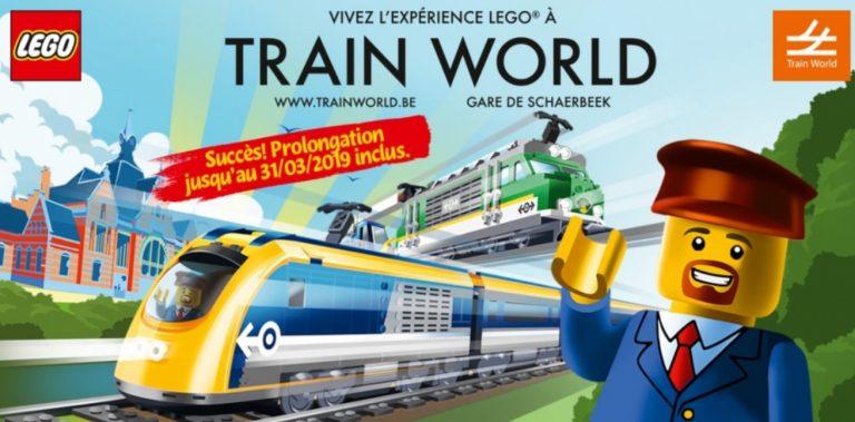 Lego Experience bij Train World verlengd tot 31 maart